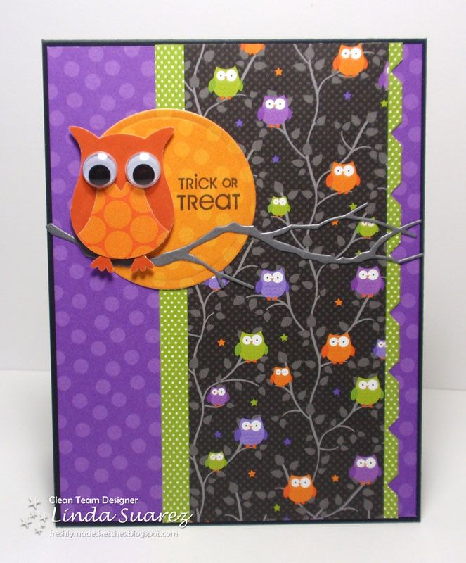 Lucky Dog Stamper   SU owl punch Trick or Treat