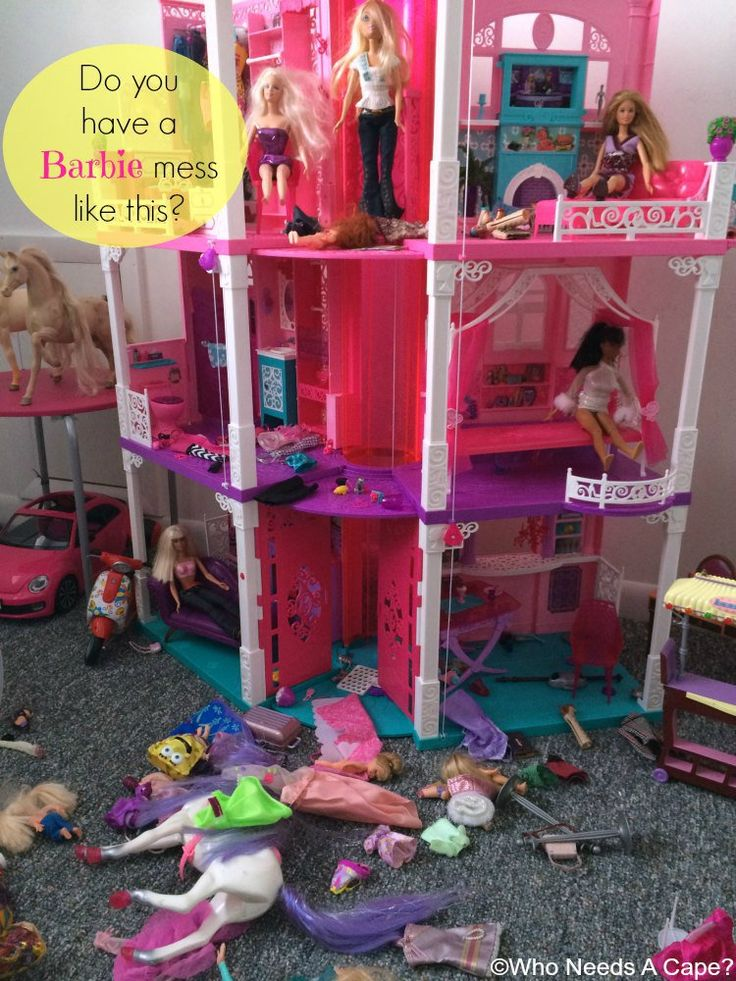 Organizing the Barbie Clutter in your Home   Who Needs A Cape?
