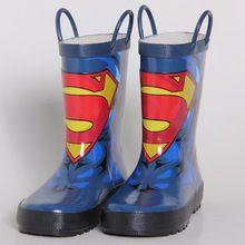 Sapatas Dos Miúdos Meninos Botas Calçados Infantis Rainboots Desenhos Animados Heros WORLDHUOR Babys Sapatos de Borracha Rainboots Botas de Chuva de Moda Para Meninos(China)