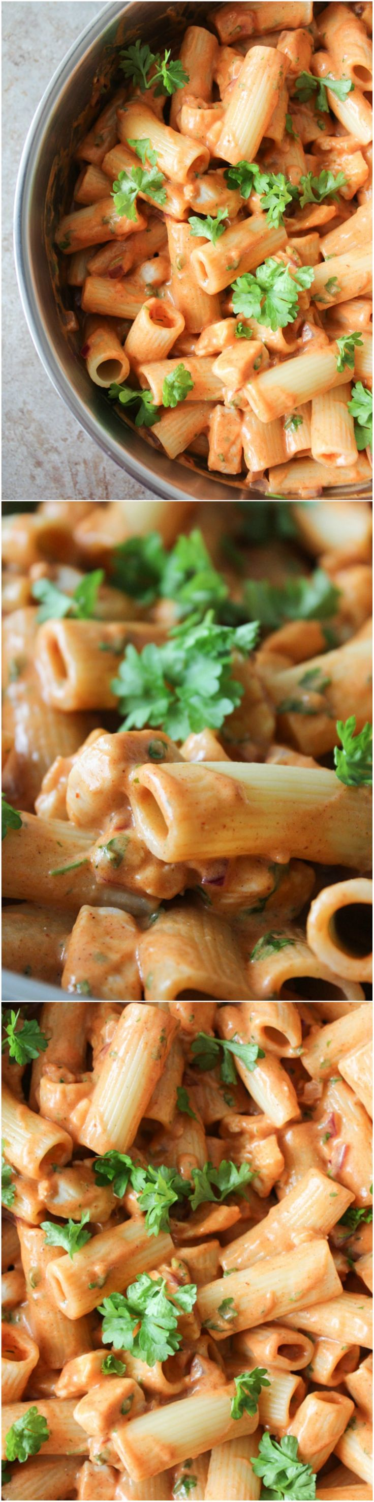 Creamy BBQ chicken pasta!