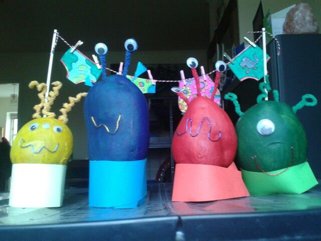 Aliens love underpants painted potatoes for world book day