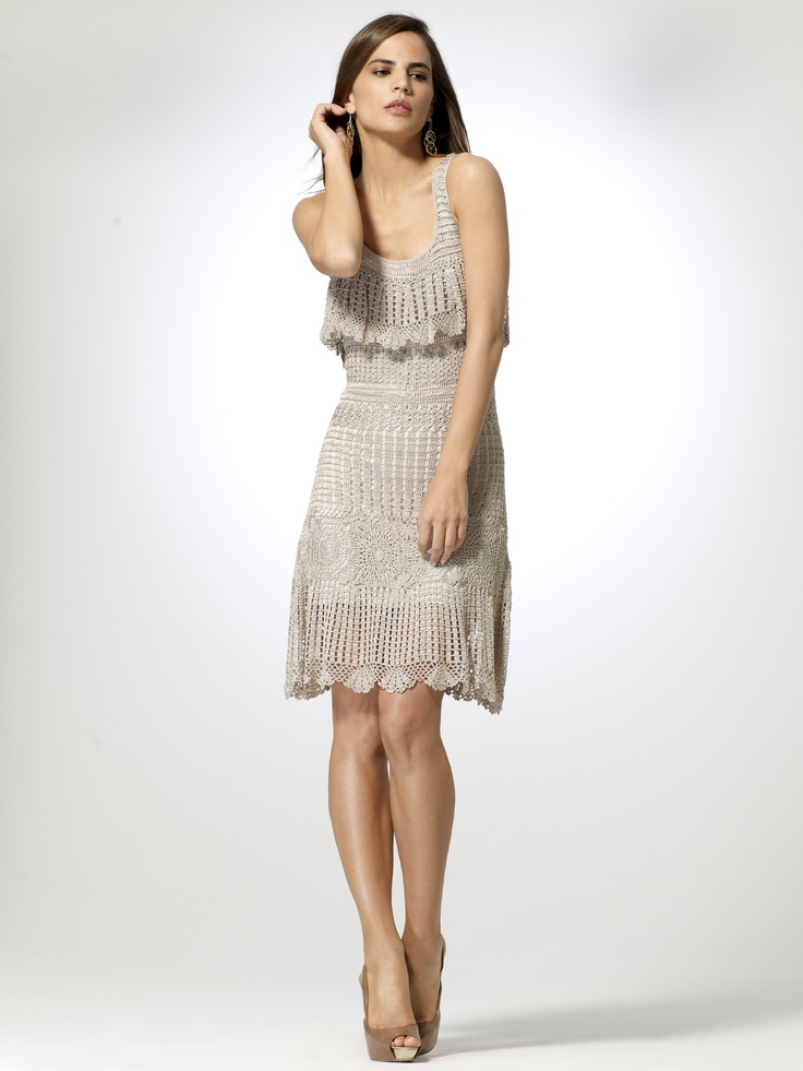 $166.60 + 30% off HEAD TO TOE   Crochet Dress   Caché