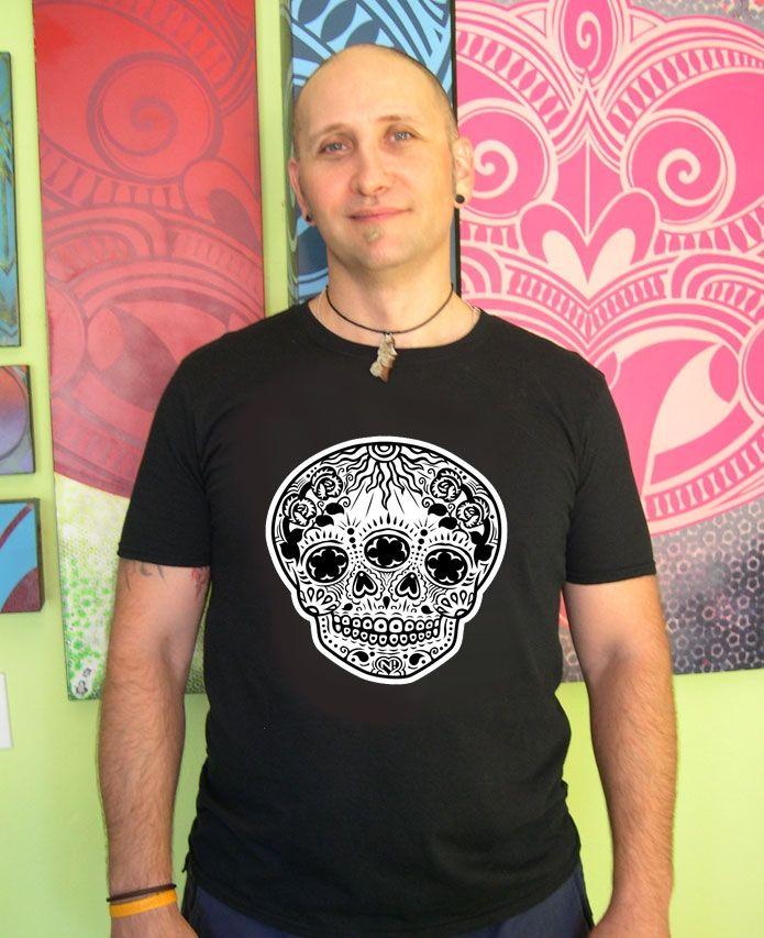 N!Satterfield Original - Get it at DoodleKanoodle.com - Dia De Los Muertos T-Shirt