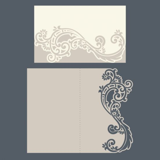 Laser cut wedding invitations, envelope, pocket template free vector designs every day.