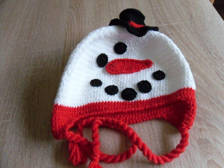 Sněhulačka s kloboučkem.