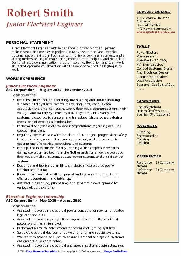 Project Manager Electrical Resume Examples In 2021 Marketing Resume Speech And Language Resume Examples