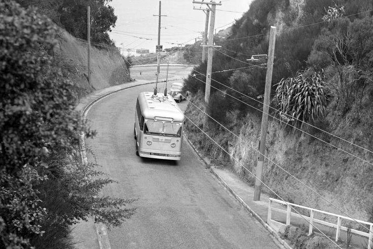Wadestown bus  1951 wellington NZ