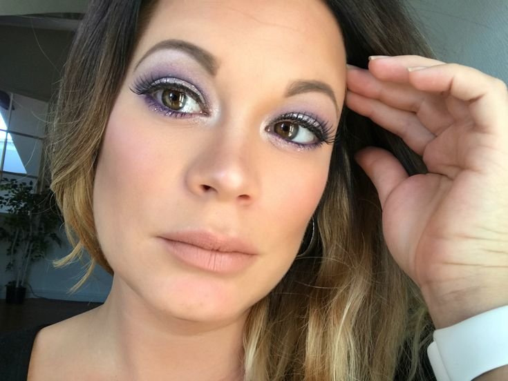 In this tutorial, I will show how to create a pair of beautiful lilac smokey eyes with glitter and the makeup is complemented with nude lips. #lilac  #purple #eyes #eyeshadow #smokeyeye #makeup #tutorial #glitter #NudeLips #glittermakeup