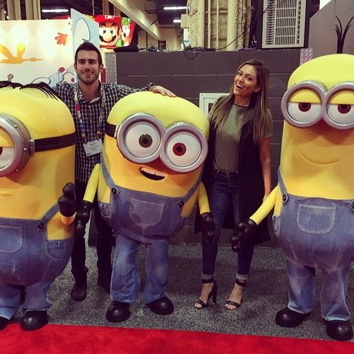 Bethany Mota Runs into the Minions from 'Despicable Me' in Vegas