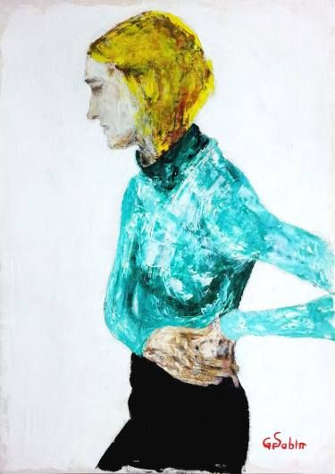 "Saatchi Art Artist George Sabin; Painting, ""Expecting"" #art"
