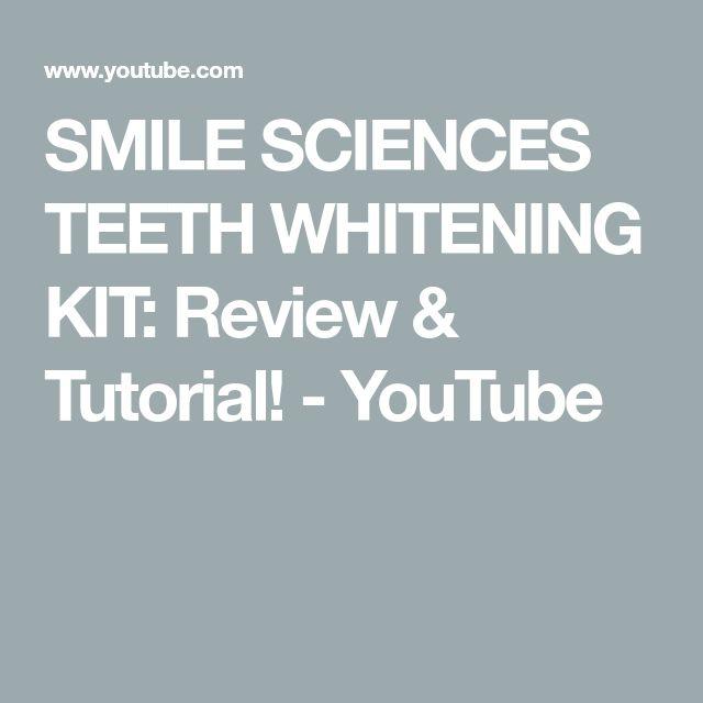 SMILE SCIENCES TEETH WHITENING KIT: Review & Tutorial! - YouTube
