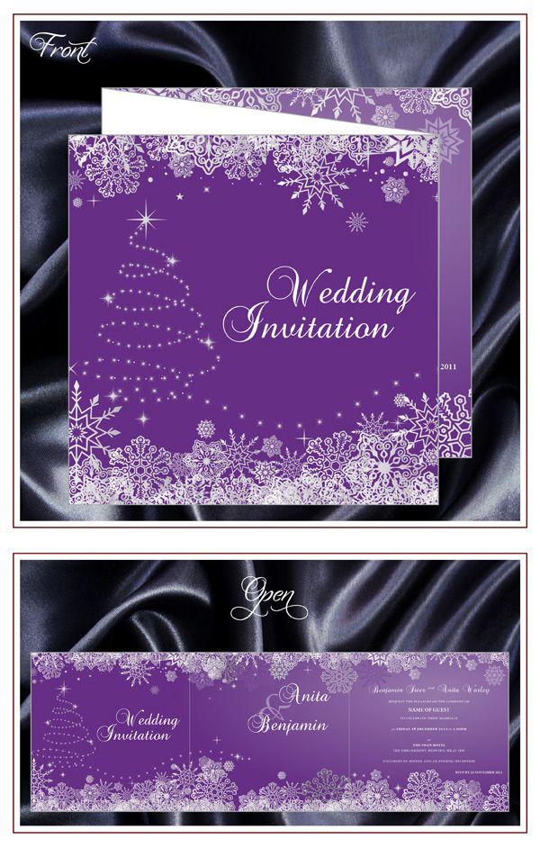 purple white silver wedding invitations%0A invitation inspiration A stunning Christmas Wedding Invitation from JMS  Creative Wedding Stationery