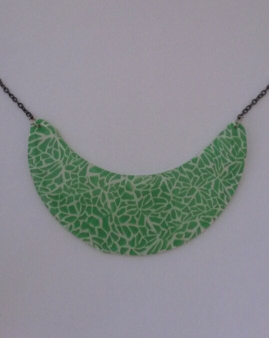 green and white original handmade necklace by PolySanAntoni, €7.00
