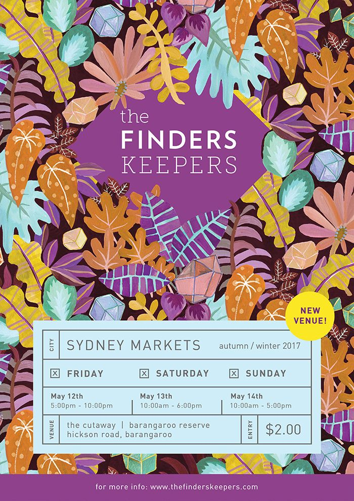 The Finders Keepers | Sydney AW17 Poster | Artwork by Togetherness Design
