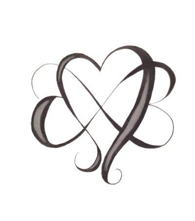 infinity heart tattoo designs