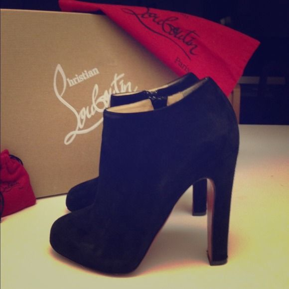 christian louboutin shoes prices - ??Sold?? Christian Louboutin booties 140mm size 37 | Christian ...