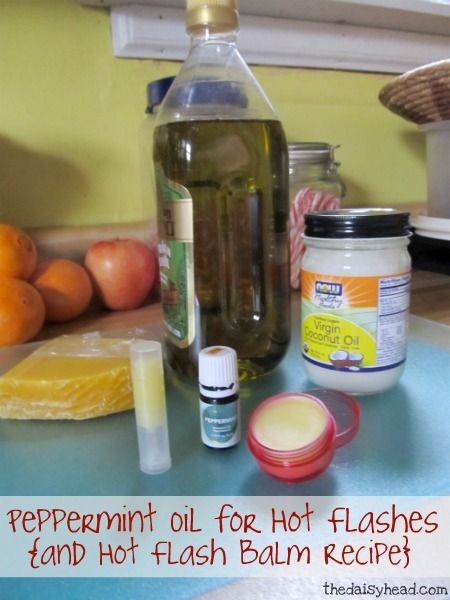 Peppermint Oil for Hot Flashes and Hot Flash Balm Recipe~ Lately I have felt like a constant hot flash, so I wanted an essential oil to help with hot flashes. I found help... and wanted to share my recipe! | @ thedaisyhead.com