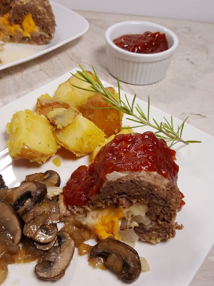 Pressure Cooker Cheeseburger Meatloaf and Rosemary Potatoess Image