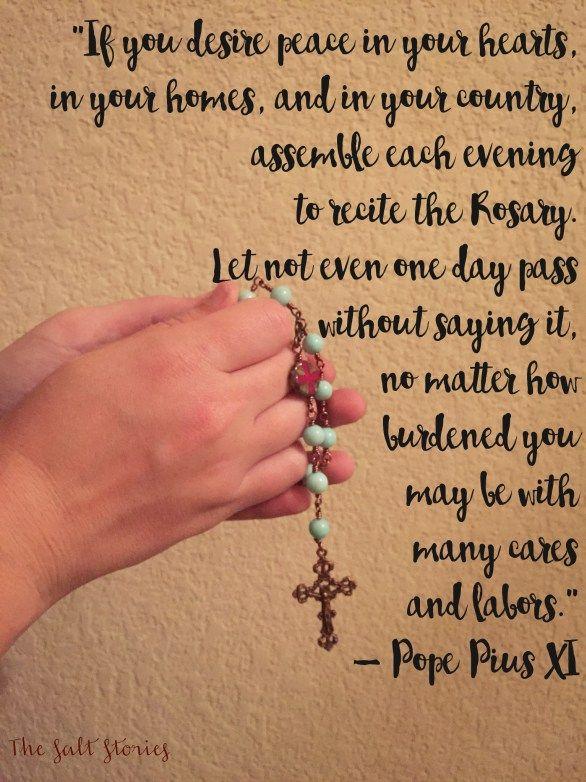 Beautiful reflection on the rosary