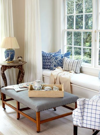 Catie Marron's Hamptons Home. Carrier & Company. Designed by Jesse Carrier.