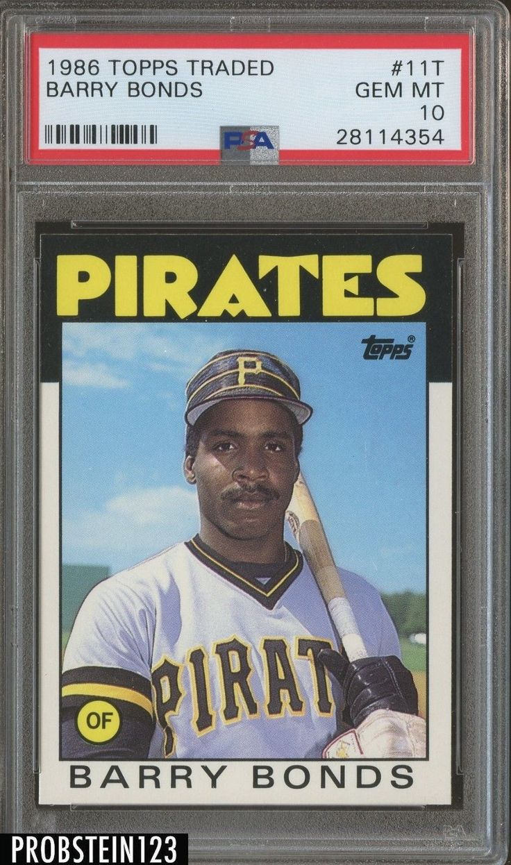 1986 topps traded 11t barry bonds pittsburgh pirates rc