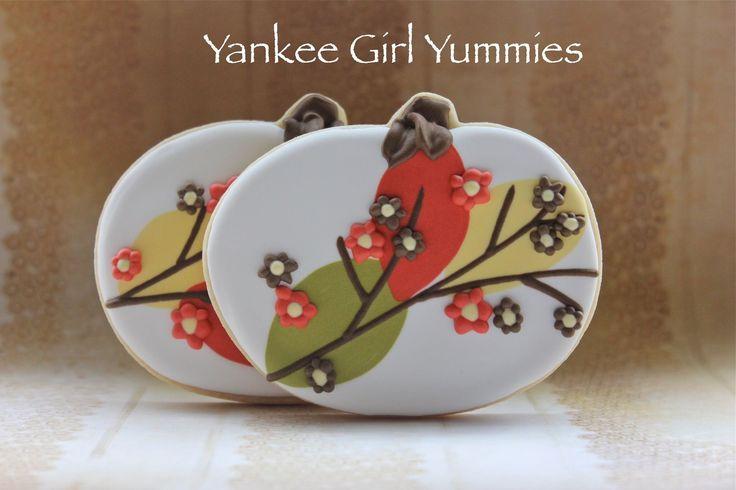 Fall pumpkin cookies by Yankee Girl Yummies