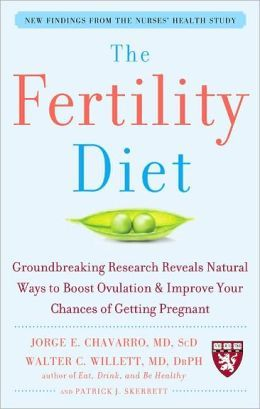 Chavarro J. E., Willett W. C., Skerrett P. J.: The fertility diet : groundbreaking research reveals natural ways to boost ovulation & improve your chances of getting pregnant. - New York [etc.] : McGraw-Hill Companies, 2008. Sygn.: RG201 .C43 2008