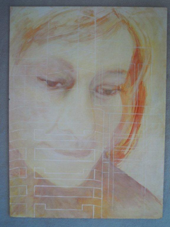Self portrait Lynley Welsh artist