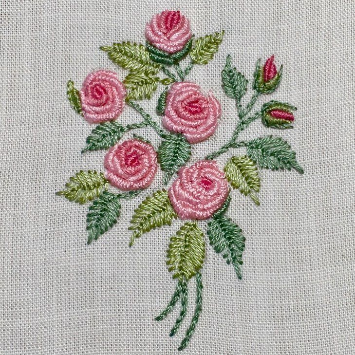 Stitching Roses Embroideryart Handstitched Embroidery Bordado Roze Ha Brazilian Embroidery Floral Embroidery Patterns Cross Stitch Embroidery