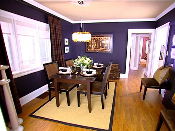 After decorating african inspired dining room watch as a for Purple dining room