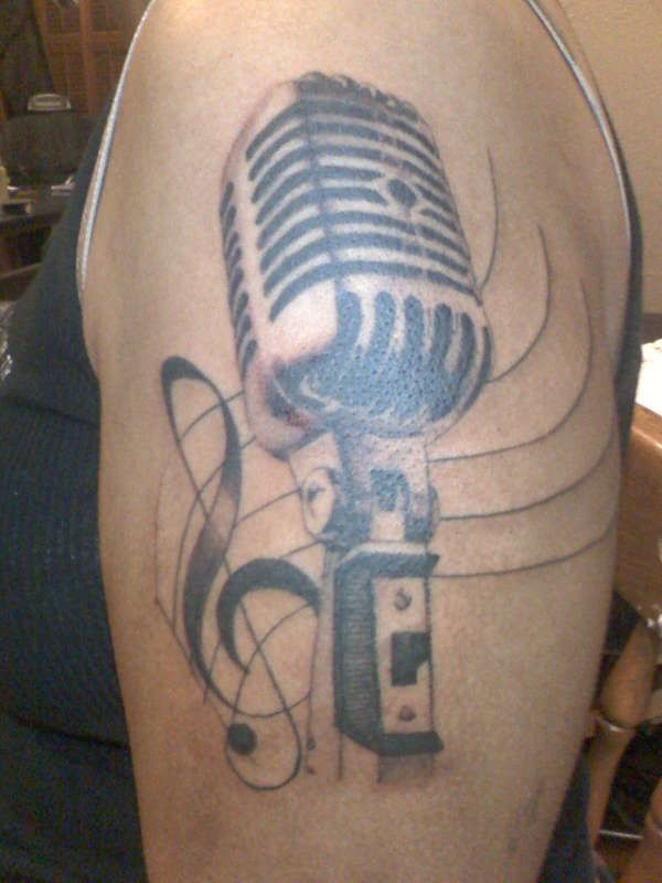 Old Fashioned Mic Tattoos