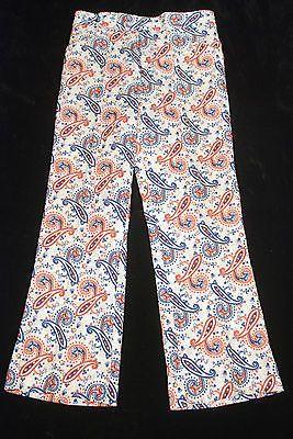 JAYMAR SANSABELT vtg 70s paisley bell bottoms wild ugly disco golf pants 32 x 30