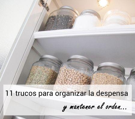 153 best cocina en orden images on pinterest free - Ideas para organizar armarios ...