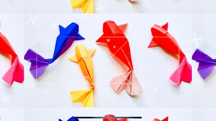 How to make Origami Fish Koi (sipho mabona) - YouTube | 414x736