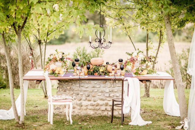 12 Ideen für romantische Hochzeitstische
