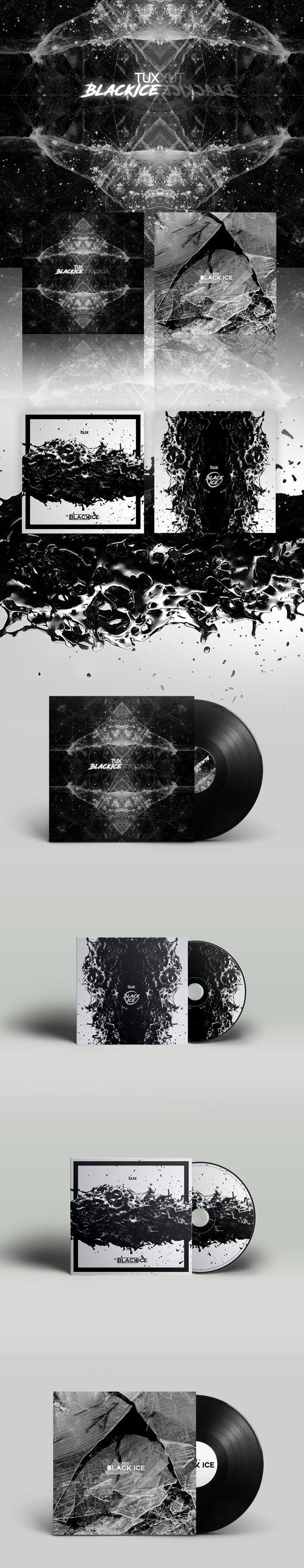TUX - BLACK ICE Mixtape covers https://www.behance.net/gallery/47101763/TUX-BLACK-ICE-Mixtape-covers #design