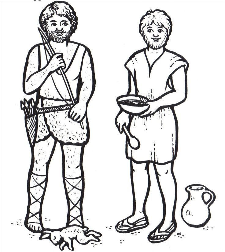 bible crafts isaac give his blessing to jacob in jacob and esau coloring page