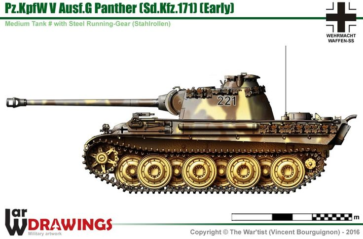 "Pz.Kpfw V Panther Ausf.G (Early) with ""Steel Wheels"""
