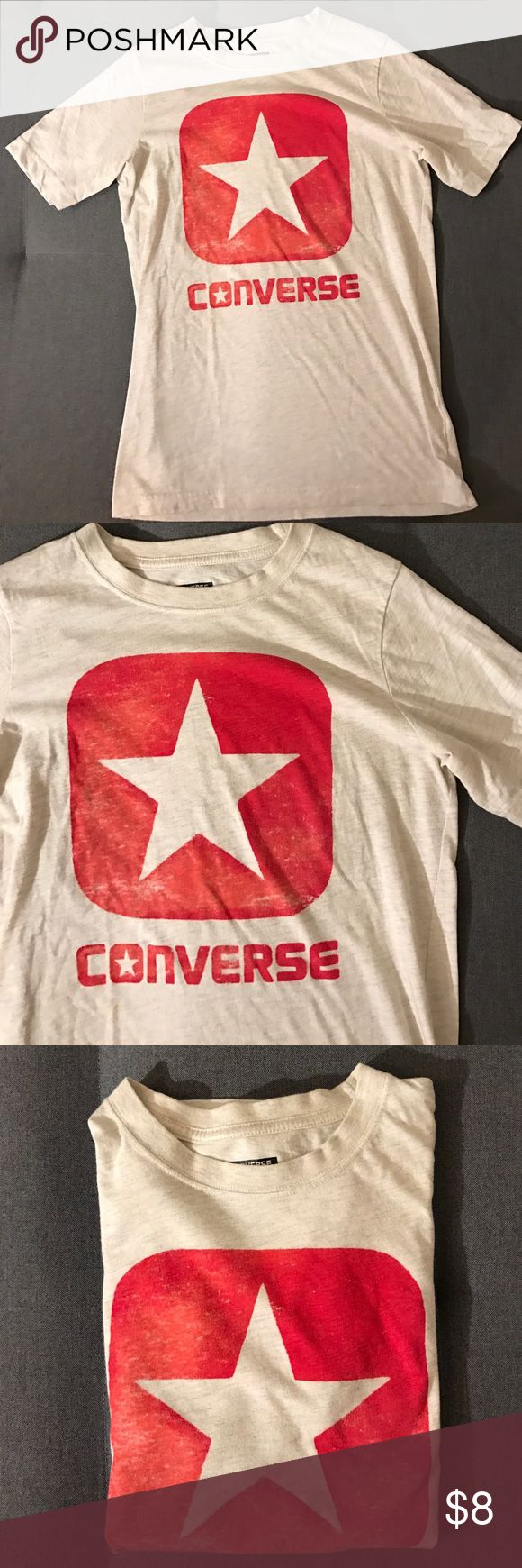Red box star converse tee Red and off white box star converse short sleeve tee! Converse Shirts & Tops Tees - Short Sleeve