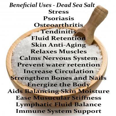Mineral rich natural Dead Sea salt benefits