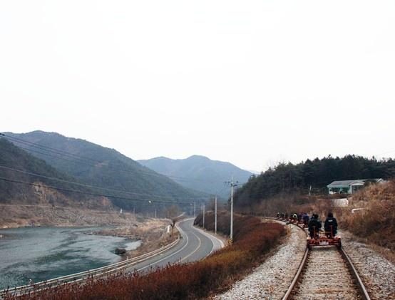 섬진강 레일바이크, 전라남도 곡성, 2012.01