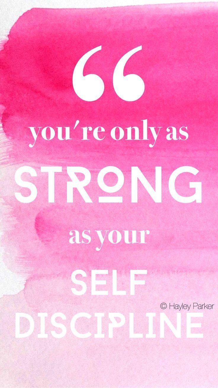 Pink Water Color Print Inspiration Self Discipline Keep Going