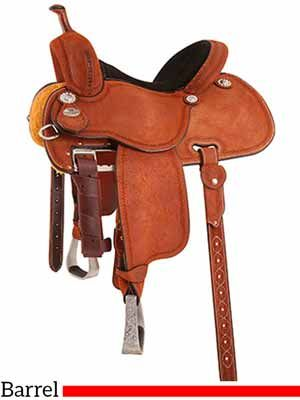 The Sherry Cervi Crown C barrel racing saddle for sale. Made by Martin Saddlery in the USA.