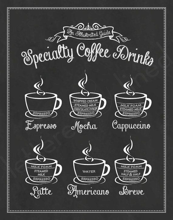 Specialty Coffee Drinks: An Illustrated Guide by letteredandlined