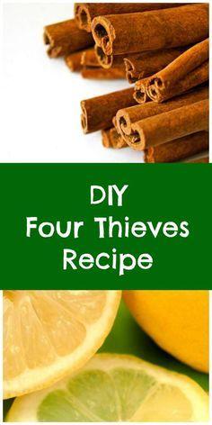 Four Thieves essential oil recipe