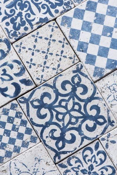 Plăcuţe decorative albastre 9.8×9.8cm – set 6 modele