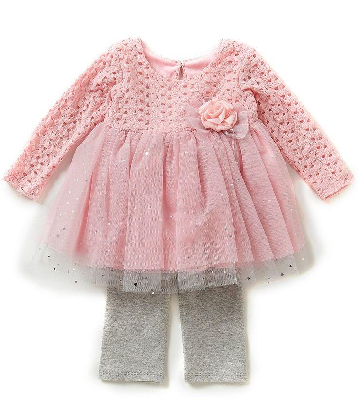 Bonnie Baby Baby Girls Newborn-24 Months Tutu-Skirt Dress & Leggings Set