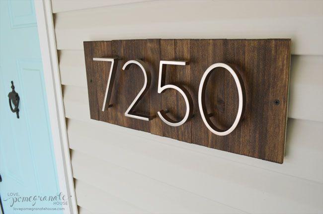 Curb Appeal - DIY House Numbers