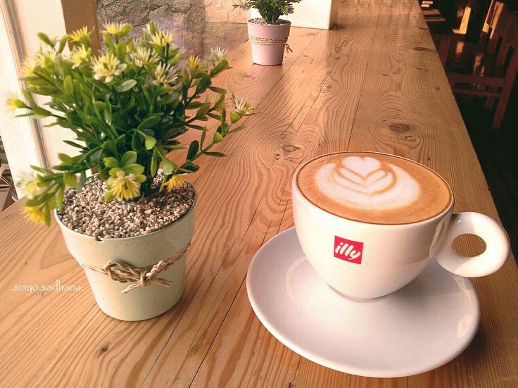 Illy coffee . Tulip flower ..