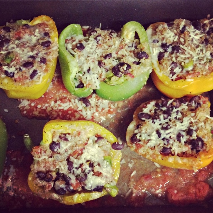 Made quinoa stuffed bell peppers today and wanted to share with you where I got the recipe:) http://www.vegfamily.com/vegan-recipes/entrees/stuffed-peppers.htm